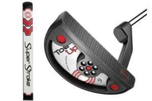 Neuf Odyssey de golf pour homme orteils jusqu'à No 9SuperStroke Flatso 1.0Grip Putter 88,9cm