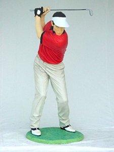 Golfeur moderne lebensgroß 190cm pour l'extérieur en fibre de verre haute qualité plastique (GFK)