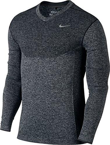 NIKE Dri-FIT Knit Pull de golf avec col en V pour homme Motif vol Noir/Noir/Argent, Taille M