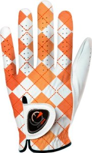 Easy Glove British_Checkered-Orange-W Gant de golf Multicolore M