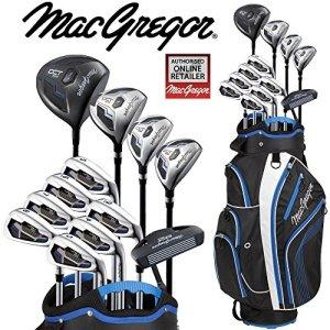 MacGregor Dct2000de luxe Sac chariot de golf pour homme All Graphite avec ensemble de + Gratuit Parapluie & Society Tee Lot Worth £ 24.00