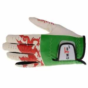 GMTee Gant de golf imperméable Main gauche pour golfeur droitier Pays de Galles Blanc Pays de Galles L