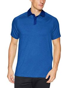 Under Armour Threadborne Chemise Polo Homme Full Heather/Royal/Rhino Gray (400), FR (Taille Fabricant : 4XL)