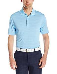 Cutter & Buck – Polo – Rayures – Manches Courtes Homme – Bleu – Medium