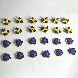 FGHGFCFFGH Golf Spikes Pins Turn Fast Twist Shoe Spikes Durable Replacement Set Ultra Thin Cleats Pins Golf Shoes Parts(Blue)