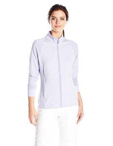 Cutter & Buck Women's Moisture Wicking, UPF 50+, Long-Sleeve Lena Full Zip Jacket, Iris, S