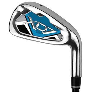 Cvbndfe Club de Pratique de Golf de qualité supérieure pour Les Hommes Femmes s'adapte à la Pratique de Golf en intérieur et en extérieur (Couleur : Blue-M, Taille : Steel Shaft)