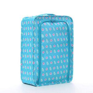 Grand sac de rangement, sac de voyage, sac de rangement, fermeture éclair, organiseur de chaussures, portable, pliable, multifonction, en polyester pochette de tri étanche pratique, Ananas