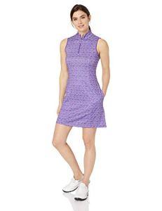 Greg Norman Women's Diamond Geo S/l Zip Mock Dress
