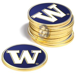NCAA Washington huskies–Lot de 12marqueurs de balle