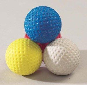Dead-balles de Golf d'entraînement sans ressort pour Crazy &Mini Golf assorties-Lot de 12