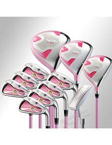 HDPP Club De Golf Ensemble Complet De Clubs De Golf U100 pour Femmes Golf Driver + Bois De Parcours + Fers L Flex Axe De Golf Graphite Et Putter Gratuit