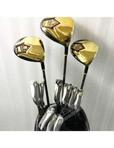 HDPP Club De Golf Nouveau Mens Majesty Super 7 Compelete Club Set 1.3.5 Bois + Fers + Sac Graphite Golf Shaft Clubs De Golf
