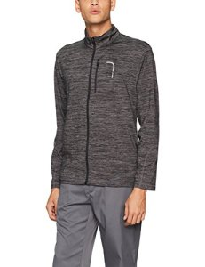 PGA TOUR Men's Elements Long Sleeve Full Zip Jacket, Quiet Shade with Caviar_PVKF70D2, S