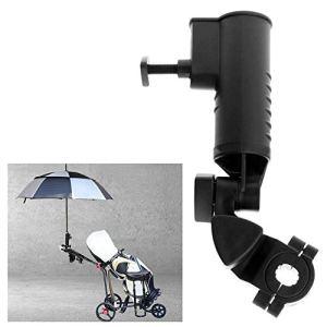 Porte-parapluie pour chariot de golf, support universel pour parapluie angle réglable pour chariot de golf accessoire professionnel, noir
