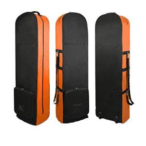 Golf Lightweight Carry Travel Bag – Sac de Golf rembourré et rembourré, Ultra léger, idéal pour Transporter des Avions de Voyage Le Sac,Orange