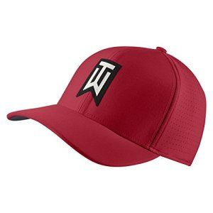 Nike TW AeroBill Classic 99 Fitted Golf Hat Size XS/S (Gym Red)
