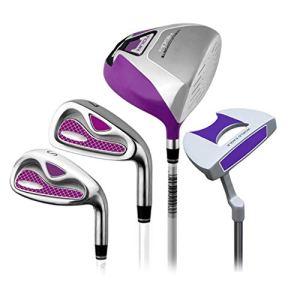 YAOSHIBIAN- Golf Set Rod Mesdames Demi Set Golf Club Golf Club Putter Pink Droitier Utilisé Putter Golf pour Les Femmes, 4 Pcs Équipement de Golf (Couleur : One Color, Taille : S2)