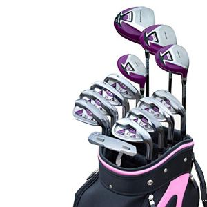 YAOSHIBIAN- Ladies Golf Putter Golf Practice Club Ensembles de Golf Poids léger Femmes Clubs de Golf Clubs complets Ensembles débutants Bars d'exercice, 13 PCS Équipement de Golf