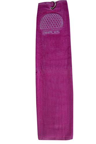 DIMPLES Serviette de Golf Rose, Rose Bonbon, 60 x 40 cm