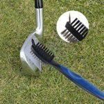SnailGarden Accessoires de Golf, Comprend 1 Brosse pour Club de Golf avec Mousqueton en Aluminium rétractable de 0,6 m, 2 Outils de Divot et 1 Sac en Forme de Tee de Golf.