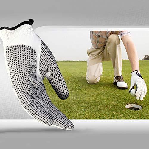 WXK Accessoires de Golf Main Gauche en Peau de Mouton Anti-dérapant Respirant et Confortable Particule Golf Gants Hommes, Taille: 24#