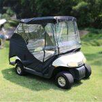 AQzxdc Housse de voiturette de Golf pour 2 passagers, Housse de Rangement pour EZGO, Club Car, Yamaha, Protection étanche à la Pluie et à la poussière