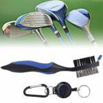Brosse de Nettoyage de Gorge de Club de Golf, Brosse de Nettoyage de Club de Golf multifonctionnelle, Brosse de Club de Golf, Brosse de Nettoyage de Golf Double Face, pour Parcours de Golf