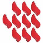 Asixxsix Couverture de Club de Fer, Protecteur de tête de Putter de Protecteur de Putter de Conception à Large Ouverture, Biginners de Parcours pour Putter à Domicile(Red)