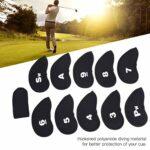 CHICIRIS 11 pièces Couvre-tête de Club de Golf, Couvre-tête de Fer, Couvre-tête de Club Hybride de Golf, 3-9 A/SW/PW, avec étui de Protection d'étiquette de numéro