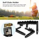DAUERHAFT Organisateur de Support de Club de Golf Portable, pour l'entraînement, Accessoires de Golf