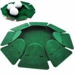 Golf Putting Cup Trou Avec Drapeau Practice De Golf Practice De Golf Coupe Trou Trou All-direction Intérieure De Formation Trou Surface Flocage Pour Office Intérieur Extérieur Vert
