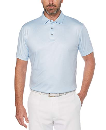 PGA TOUR Men's Printed Gingham Short Sleeve Polo Golf Shirt