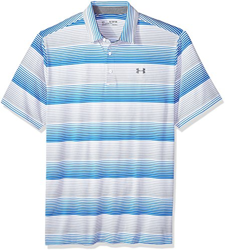 Under Armour Men's Playoff Polo, White (124)/Rhino Gray, X-Small