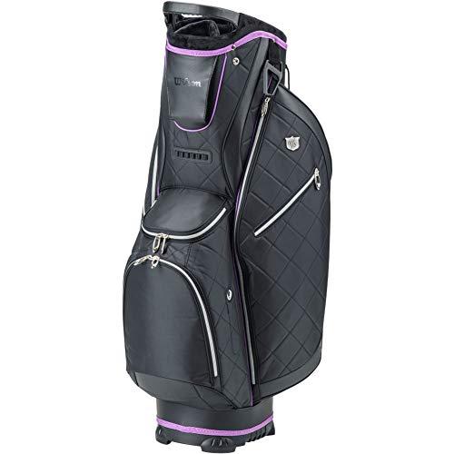 WILSON WS Lady CART Bag BLBLPU Sacs Chariots Golf pour Femmes, Black, One Size