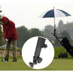 Gmasuber Porte-parapluie réglable universel en plastique noir pour chariot de golf