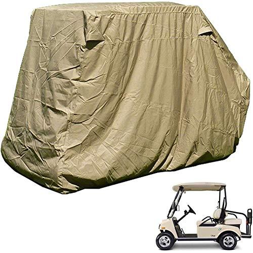 Housse de voiturette de Golf pour 4 passagers, Protection étanche Contre la poussière Housse de Protection pour Voiture de Club résistant au Soleil avec bouches d'aération, Fermeture à glissière, Our