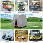 SHUI Housse Universelle pour Voiturette De Golf, Housse De Rangement pour Chariot De Golf pour 2/4 Passagers De Yamaha Drive, EZ Go Et Club Car-S: 245 * 122 * 168cm-Noir