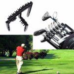 Support de rangement pour clubs de golf, porte-clubs en fer de golf, séparateur, support pour arbres en ABS, support de pose, rack de rangement, etc