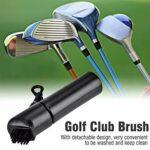 AMACOAM Brosse de Club de Golf Brosse de Nettoyage de Gommage de Club Brosse de Golf Club Groove Cleaner Brosse de Nettoyage de Golf Equipée d'un Dispositif de Pulvérisation d'eau Noir