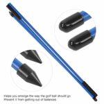 AMONIDA indicateur de Golf à 3 Plis, indicateur de Direction de Golf Design Pliable pour Sports de Plein air pour Joueur de Golf pour Pratique de Golf pour Jeu de Golf(Blue)