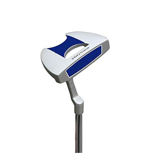 Clubs de Golf Putter de Golf en Alliage de Zinc en Acier Inoxydable Club de Golf Putter pour Hommes et Femmes Putter Semi-Circulaire Club Polyvalent et fiable (Couleur : Bleu, Taille : 34,5