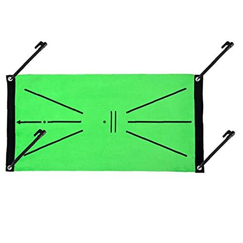 EElabper Golf Tapis d'entraînement Mini-Golf Pratique Aide Tapis Balancez détection Batting intérieur Mettre Mat Cadeau pour Bureau extérieur Vert