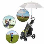 Eono Amazon Brand Grand Parapluie de Golf, 58 inch, à Double Voilure et Ouverture Automatique, Protection Contre Le Vent, Grand Format Golf Umbrella – Argent