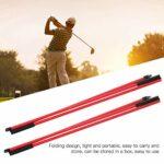 Jacksing Indicateur de Direction de Golf, indicateur de Golf bâtons d'alignement de Golf légers en Fibre de Verre pour la Maison pour Parc pour Gymnase pour Terrain de Golf(Red)