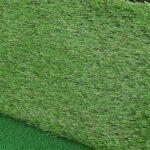 Jopwkuin Tapis d'entraînement, 64x41cm, Antidérapant, Épaissir Le Fond en Caoutchouc, Portable, Tapis de Pose intérieur avec 3 Types d'herbe différents en Particulier pour Les débutants