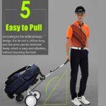 MAORR Chariot de Golf 3/4 Roues de Golf Pliant de Golf de Golf Chariot de Golf extérieur Fournitures multifonctionnelles Pliables Push Push Pull Panier de Golf (Color : A)
