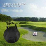 Maxjaa Filet d'entraînement de Golf Professionnel, 20'' Filet de Golf Portable Filet de Coupe de Golf à Trois Couches avec Sac de Rangementpour Extérieur en Intérieur