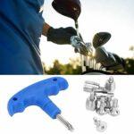 Outil de clé à vis de club de golf, accessoire d'outil de clé à vis à contrepoids durable en acier au tungstène R11