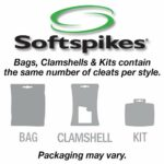 Softspikes Pulsar Cleat Small Metal Kit – Threaded Insert System